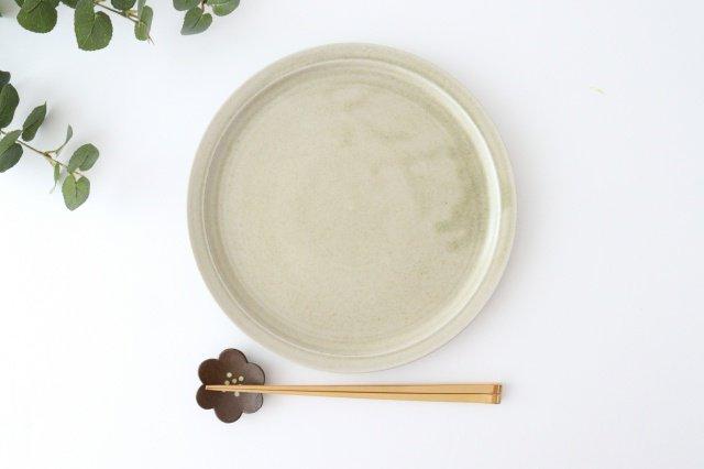 8寸皿 魚沼緑灰 陶器 青人窯 画像5