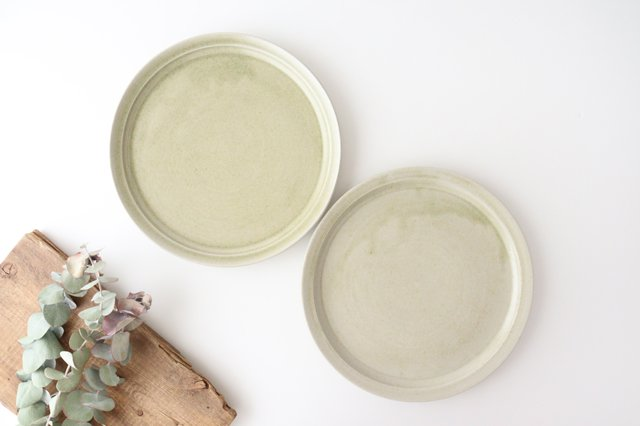 8寸皿 魚沼緑灰 陶器 青人窯 画像6