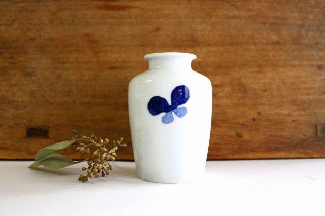 花瓶古瓶型 ちょう ツートン 磁器 皐月窯 砥部焼