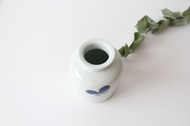花瓶古瓶型 ちょう ツートン 磁器 皐月窯 砥部焼 画像2