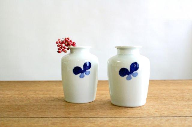 花瓶古瓶型 ちょう ツートン 磁器 皐月窯 砥部焼 画像3