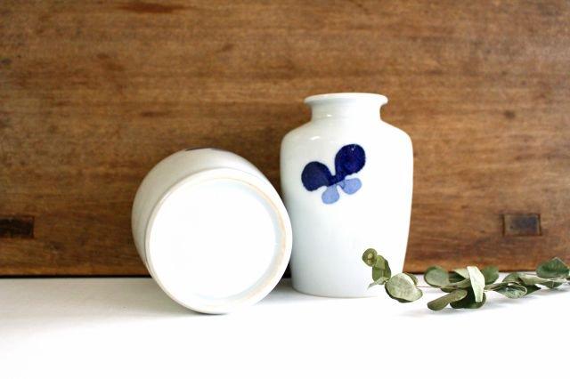 花瓶古瓶型 ちょう ツートン 磁器 皐月窯 砥部焼 画像4