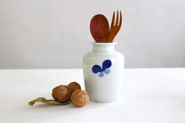 花瓶古瓶型 ちょう ツートン 磁器 皐月窯 砥部焼 画像6