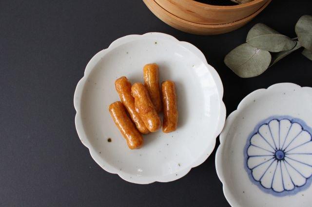 5寸花形型打ち皿 白磁 磁器 皐月窯 砥部焼