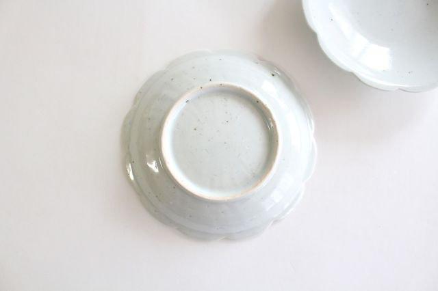 5寸花形型打ち皿 白磁 磁器 皐月窯 砥部焼 画像3