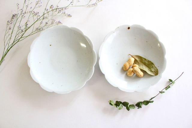 5寸花形型打ち皿 白磁 磁器 皐月窯 砥部焼 画像6