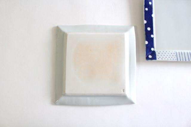 四角リム皿 大 イッチンドット 磁器 皐月窯 砥部焼 画像4