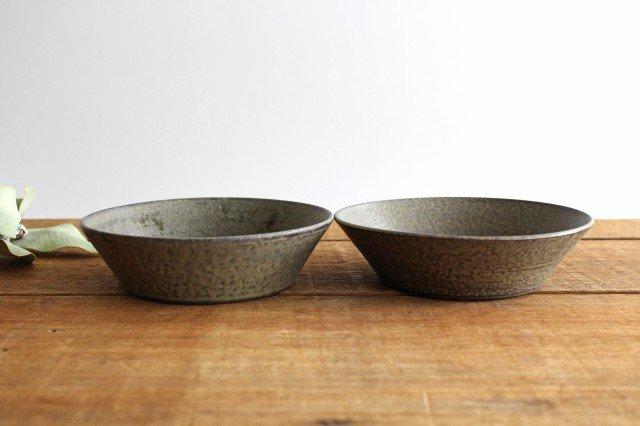 浅鉢 柿灰 陶器 青人窯 画像2