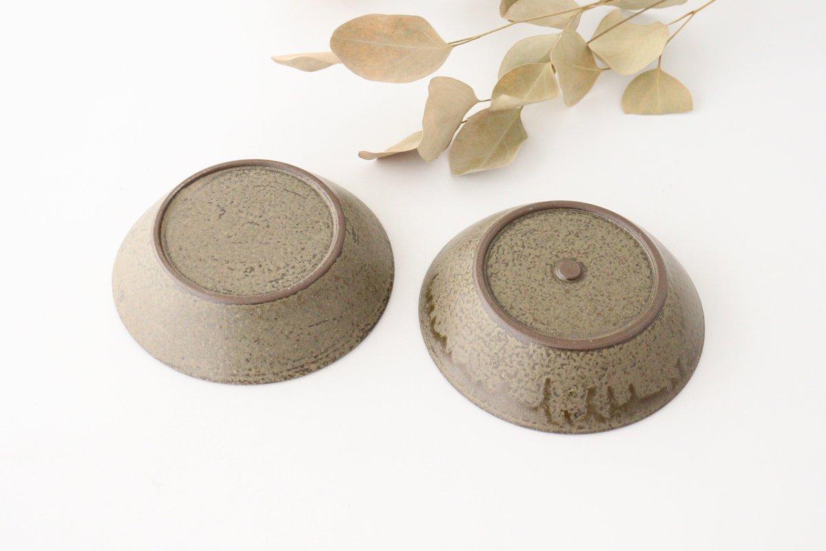 浅鉢 柿灰 陶器 青人窯 画像5