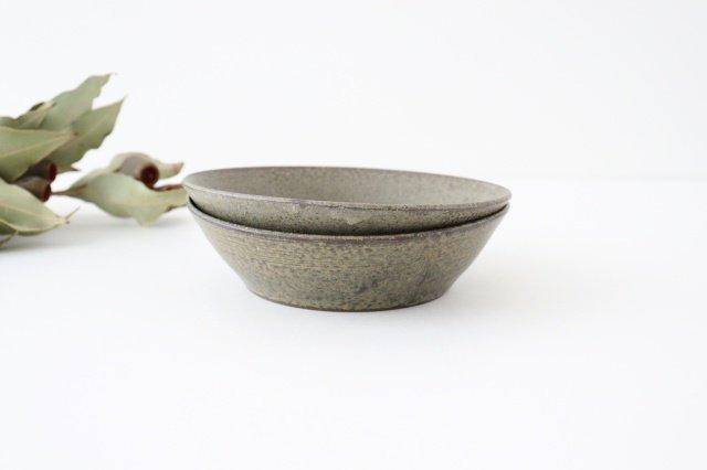 浅鉢 柿灰 陶器 青人窯 画像6