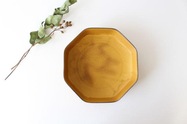 美濃焼 つどい鉢 八角鉢 寂からし釉 瑞々 磁器  画像3