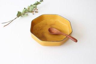 美濃焼 つどい鉢 八角鉢 寂からし釉 瑞々 磁器 商品画像