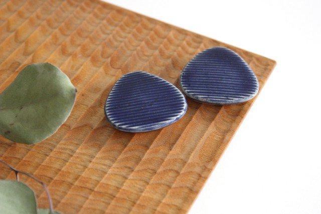 Niigataモチーフ箸置き おにぎり 灰るり 陶器 青人窯 画像4