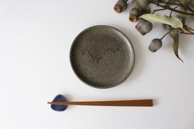 Niigataモチーフ箸置き おにぎり 灰るり 陶器 青人窯 画像5