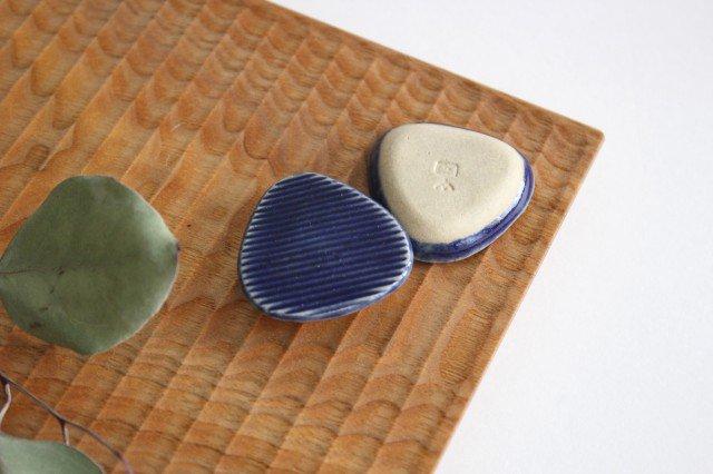 Niigataモチーフ箸置き おにぎり 灰るり 陶器 青人窯 画像6