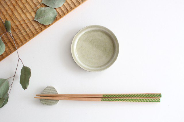 Niigataモチーフ箸置き おにぎり 魚沼緑灰 陶器 青人窯 大山 育男 画像5