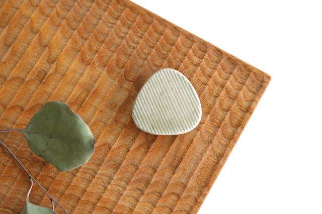 Niigataモチーフ箸置き おにぎり 魚沼緑灰 陶器 青人窯 画像6