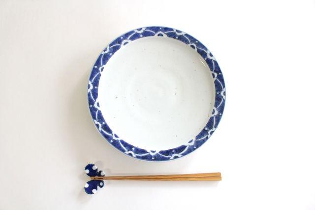 8寸リム皿 染付花 磁器 皐月窯 砥部焼 画像5