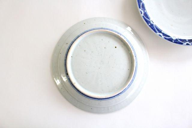 8寸リム皿 染付花 磁器 皐月窯 砥部焼 画像6