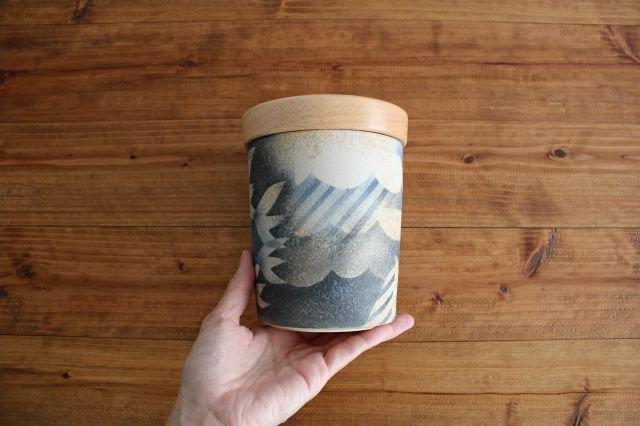 キャニスター ブナ アメヤマトリ 陶器 はるな陶芸工房 画像6