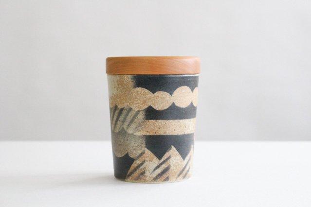 キャニスター ブラックチェリー アメヤマトリ 陶器 はるな陶芸工房 画像2