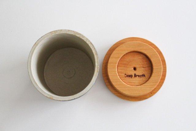 キャニスター ブラックチェリー アメヤマトリ 陶器 はるな陶芸工房 画像4