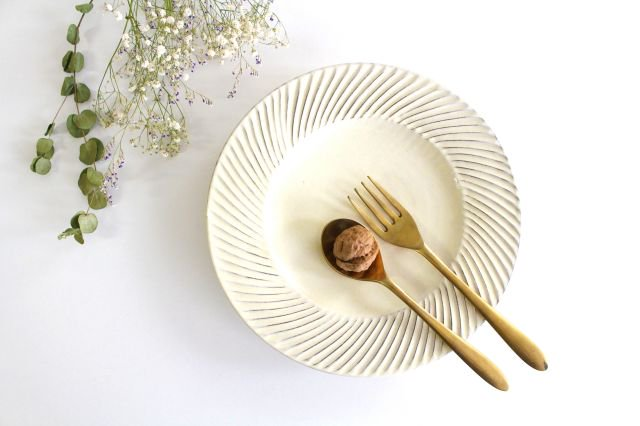 鎬リム8寸皿 陶器 後藤義国 画像4