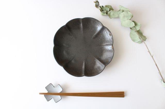 ブロンズ 輪花皿 陶器 レジーナ 画像5