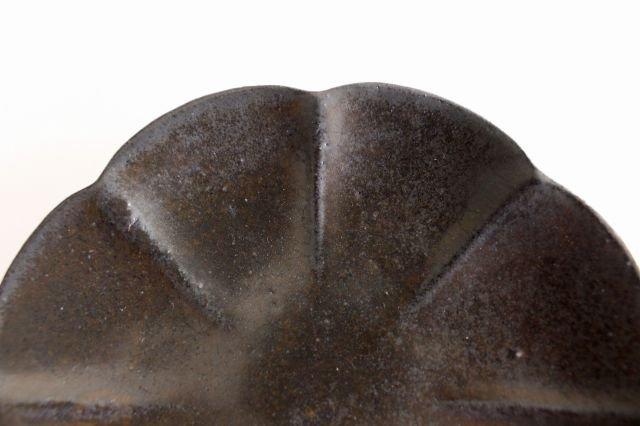 ブロンズ 輪花皿 陶器 レジーナ 画像6