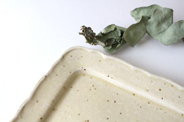 バニラビーンズ 角皿 陶器 レジーナ 画像3