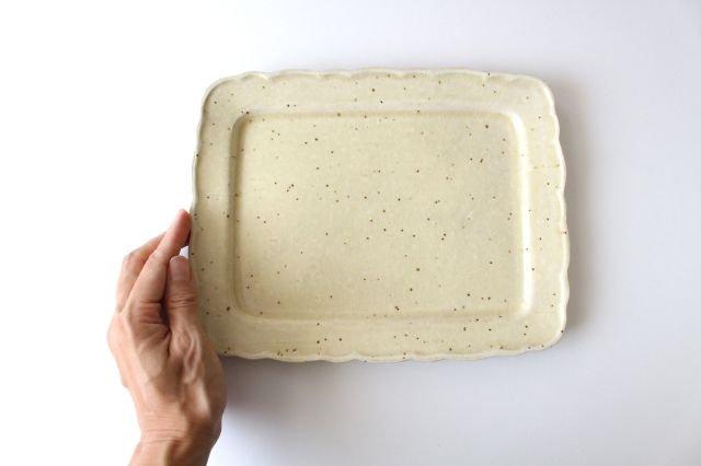 バニラビーンズ 角皿 陶器 レジーナ 画像5