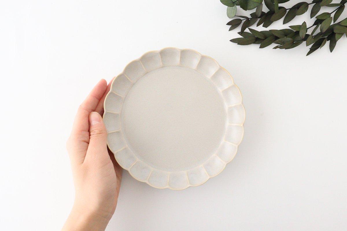 菊割5寸皿 シャーベットグレー 磁器 皓洋窯 有田焼 画像2