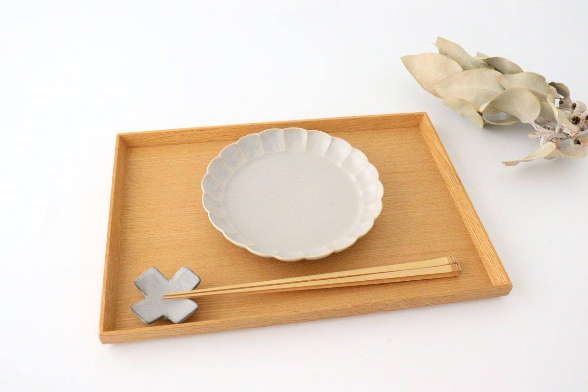 菊割5寸皿 シャーベットグレー 磁器 皓洋窯 有田焼 画像4