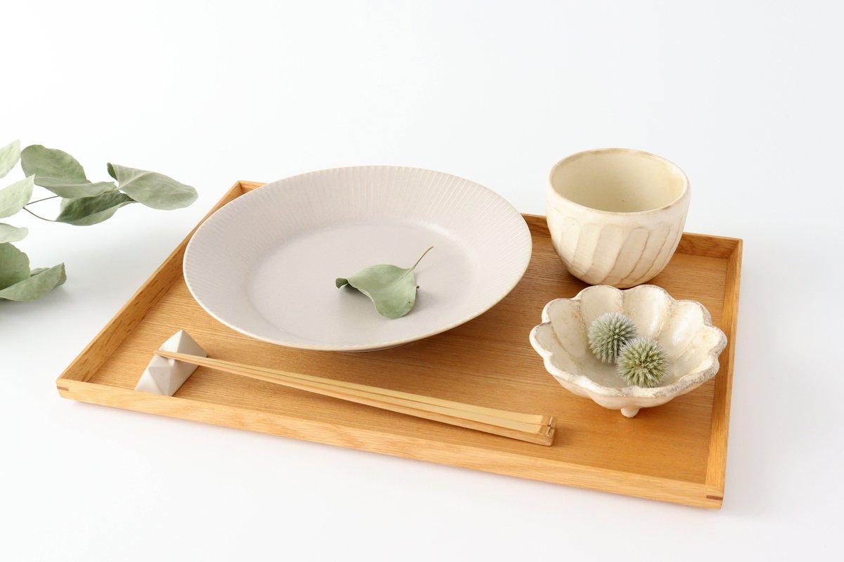 しのぎ7寸皿 シャーベットグレー 磁器 皓洋窯 有田焼 画像3