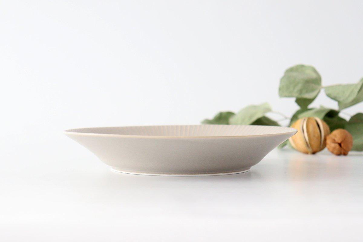 しのぎ7寸皿 シャーベットグレー 磁器 皓洋窯 有田焼 画像4