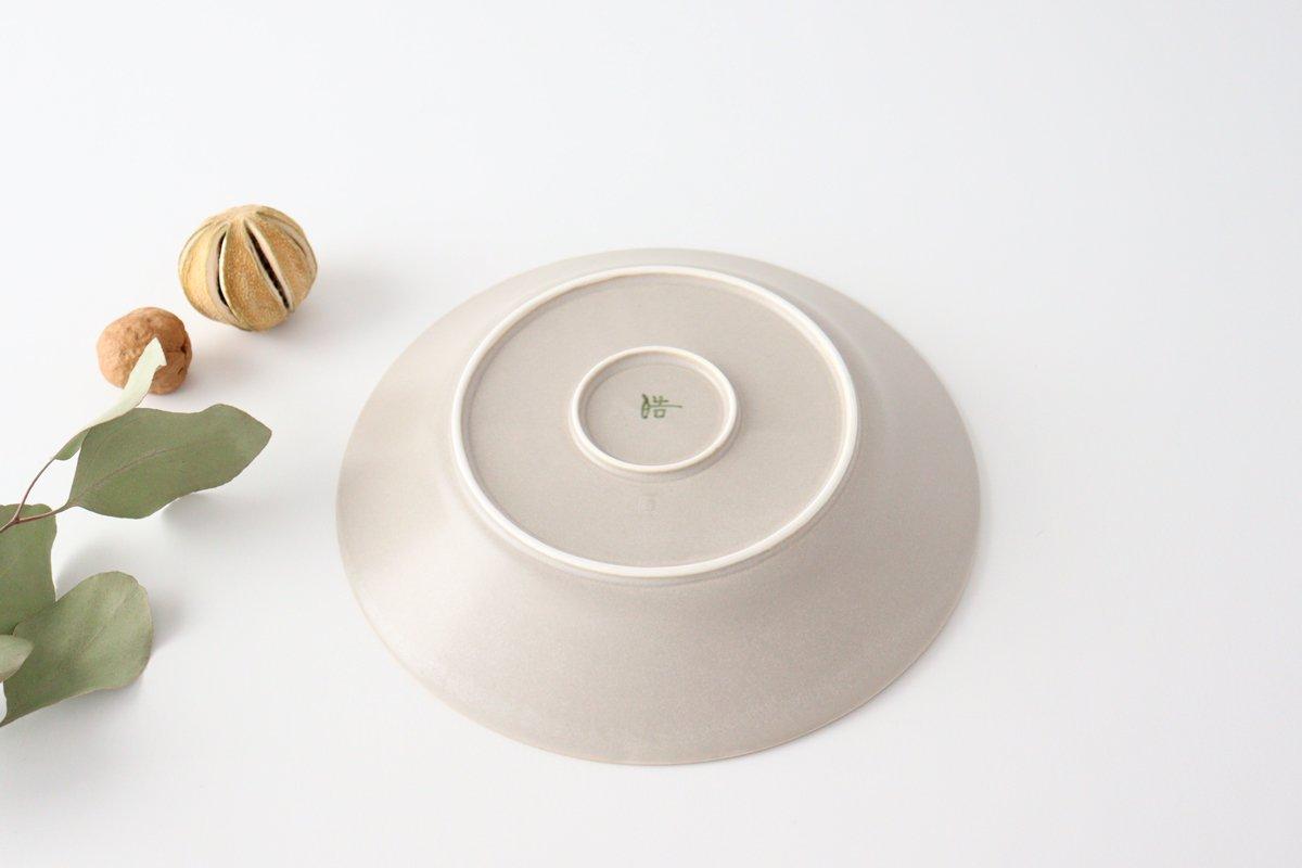 しのぎ7寸皿 シャーベットグレー 磁器 皓洋窯 有田焼 画像5