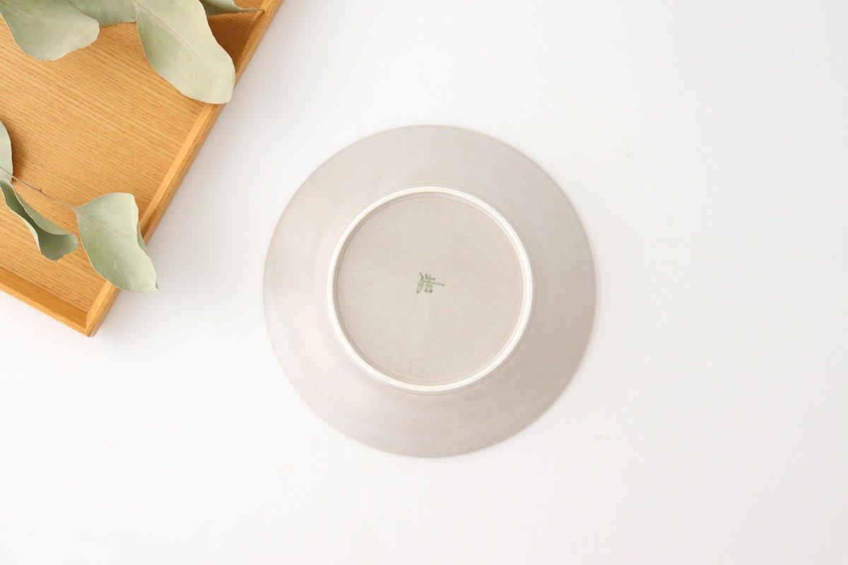 しのぎ5.5寸皿 シャーベットグレー 磁器 皓洋窯 有田焼 画像4
