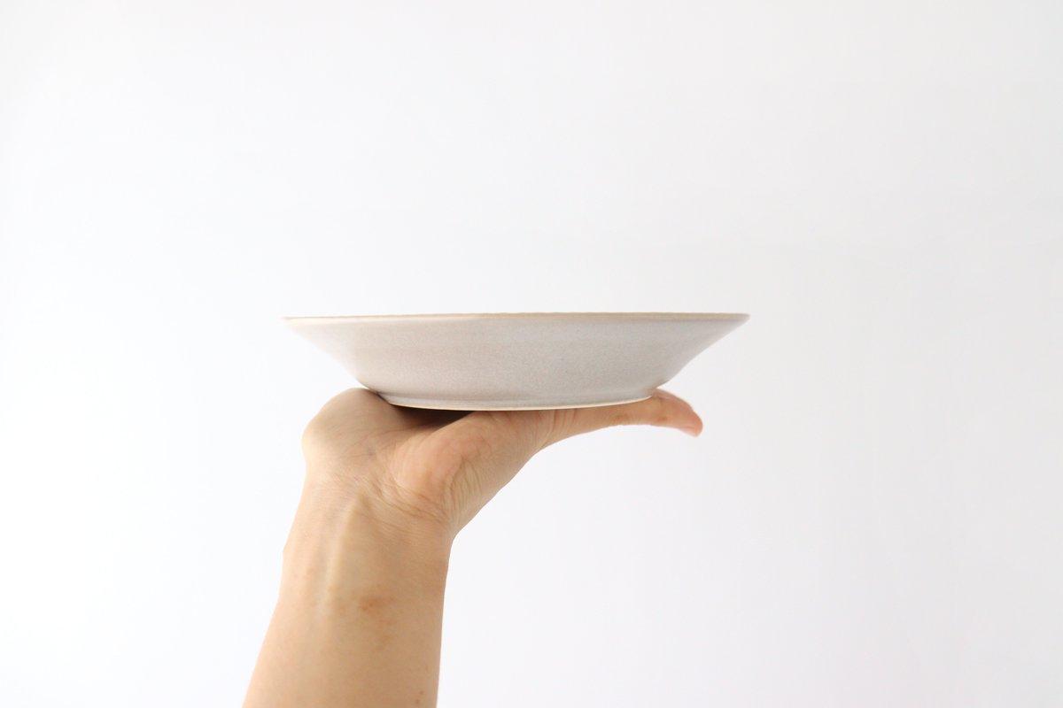 しのぎ5.5寸皿 シャーベットグレー 磁器 皓洋窯 有田焼 画像6