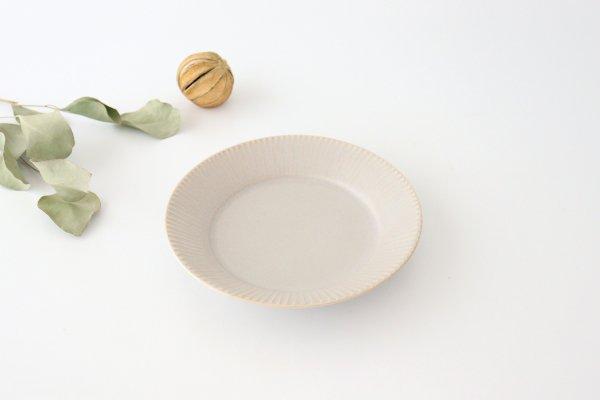 しのぎ5.5寸皿 シャーベットグレー 磁器 皓洋窯 有田焼商品画像