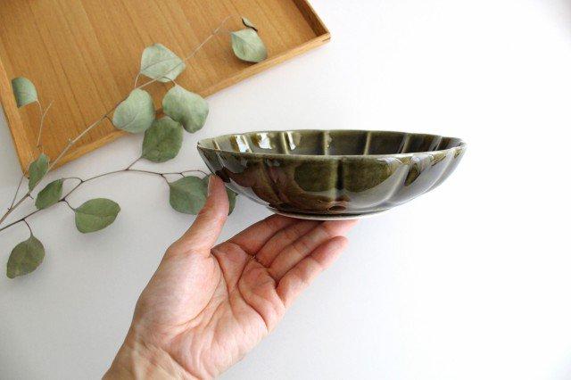 菊割平鉢 オリーブ 磁器 皓洋窯 有田焼 画像2