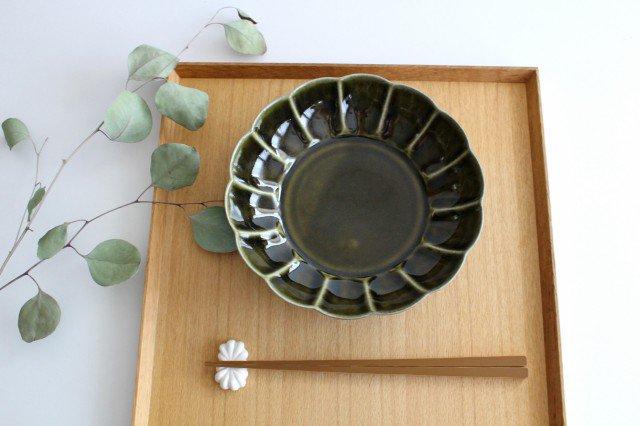 菊割平鉢 オリーブ 磁器 皓洋窯 有田焼 画像4