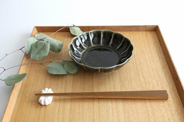 菊割小鉢 オリーブ 磁器 皓洋窯 有田焼 画像2