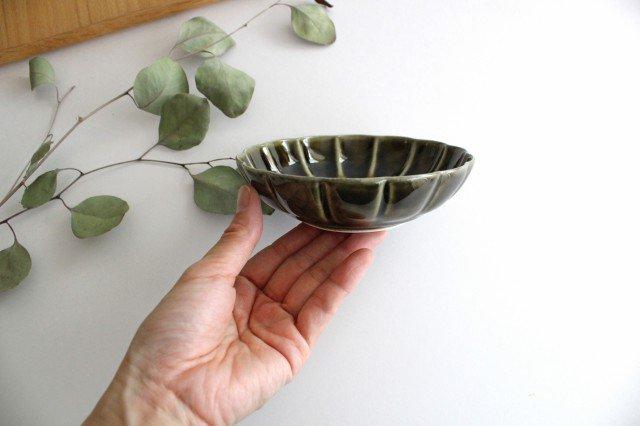 菊割小鉢 オリーブ 磁器 皓洋窯 有田焼 画像5
