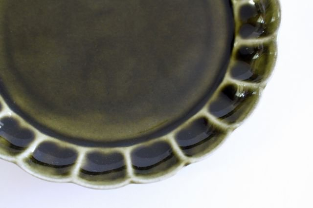 菊割5寸皿 オリーブ 磁器 皓洋窯 有田焼 画像4