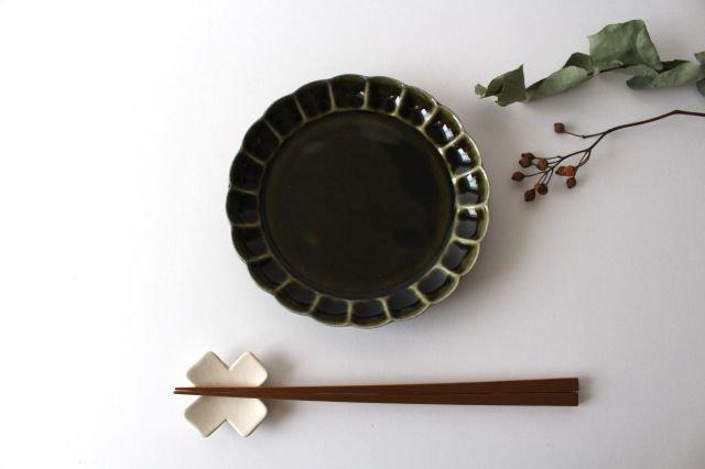 菊割5寸皿 オリーブ 磁器 皓洋窯 有田焼 画像6