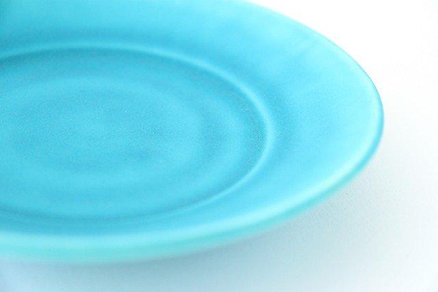 ラウンドプレート XS ナイルブルー 陶器 宮木英至 画像5