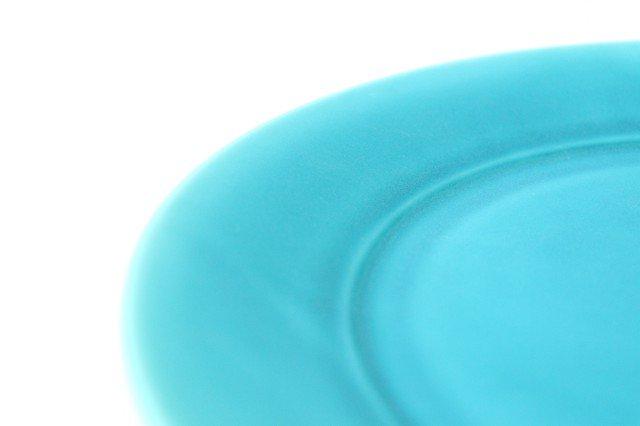 ラウンドプレート M    ナイルブルー    陶器 宮木英至 画像3