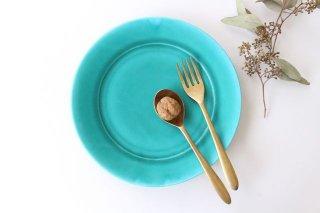 ラウンドプレート M    ナイルブルー    陶器 宮木英至商品画像