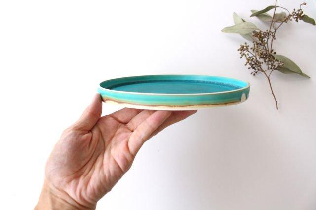 銅鑼鉢 S    ナイルブルー    陶器 宮木英至 画像6