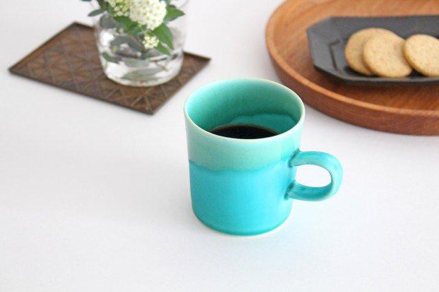 マグカップ S    ナイルブルー    陶器 宮木英至